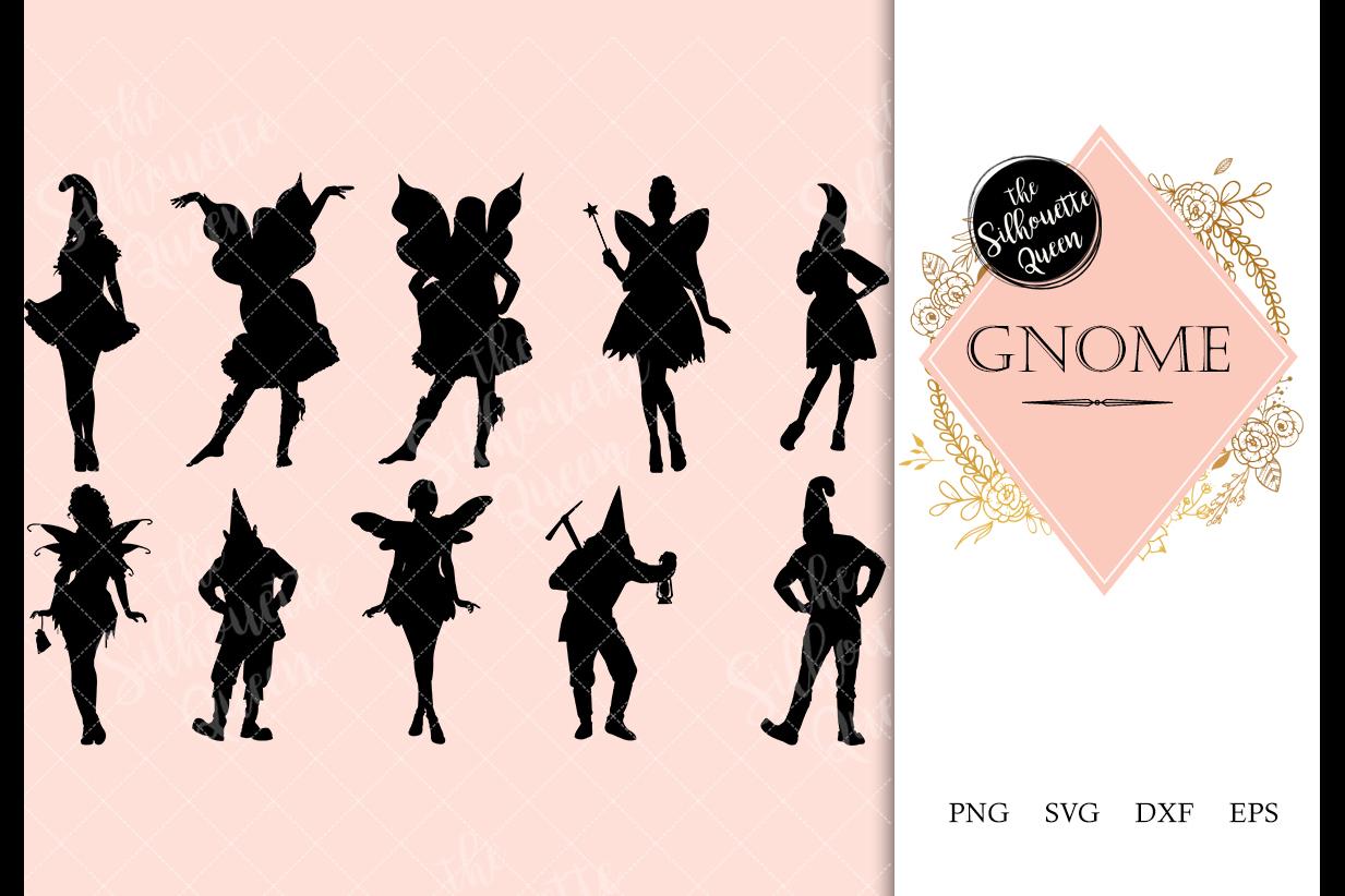 Gnome svg file, dwarf svg cut file, silhouette studio example image 1