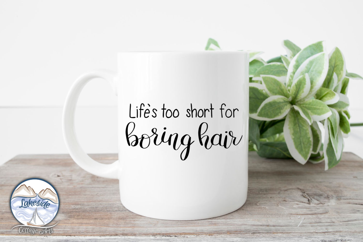 Life's Too Short for Boring Hair Hand-lettered SVG example image 3