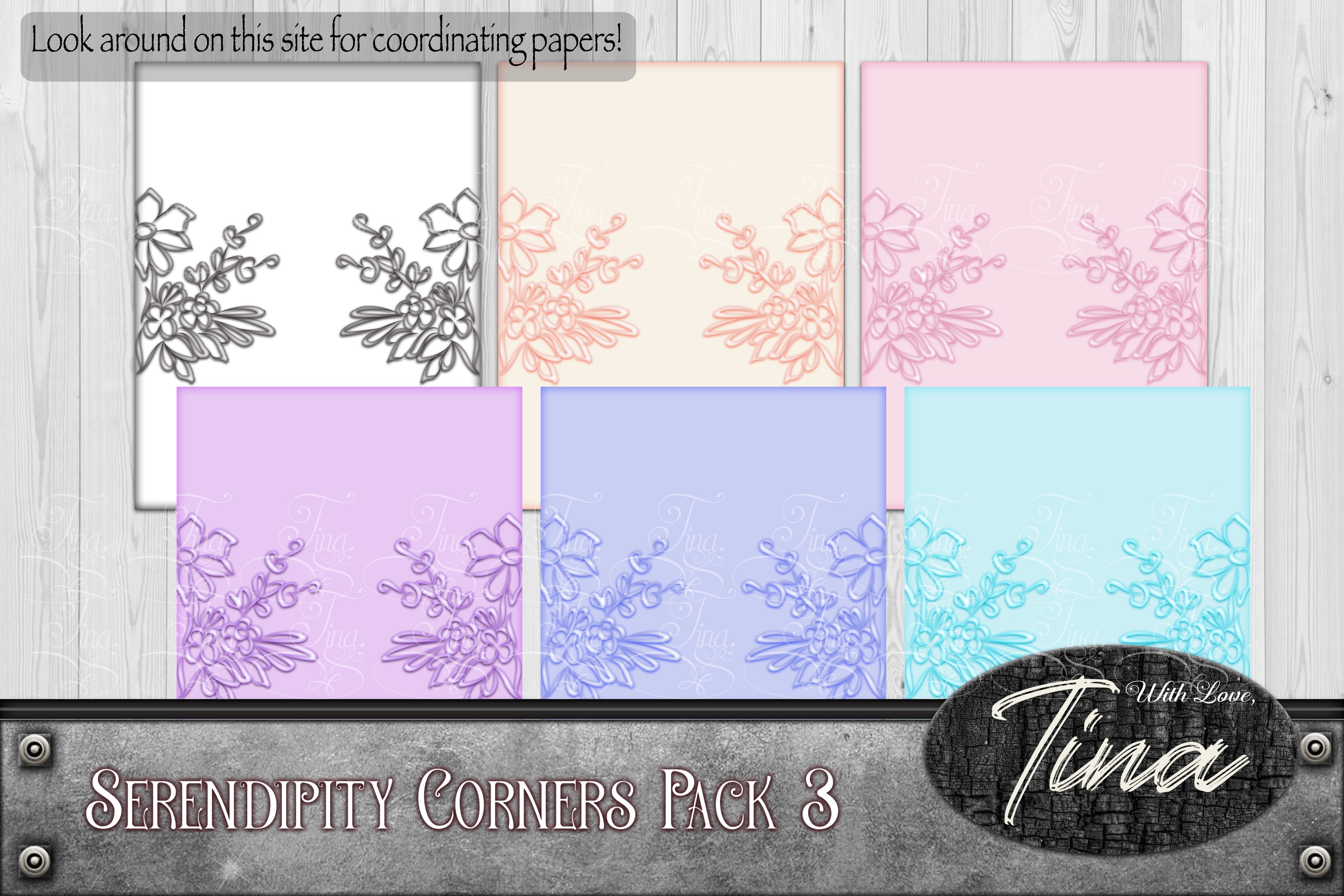 Floral Scrollwork Ironwork Scrolls Cards Wedding 092918IF3 example image 1