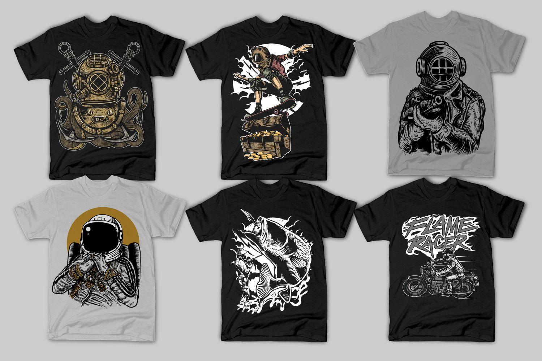 42 Tshirt Designs Bundle example image 5