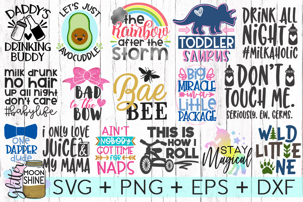 Kid's Life Bundle Of 57 SVG DXF PNG EPS Cutting Files example image 2