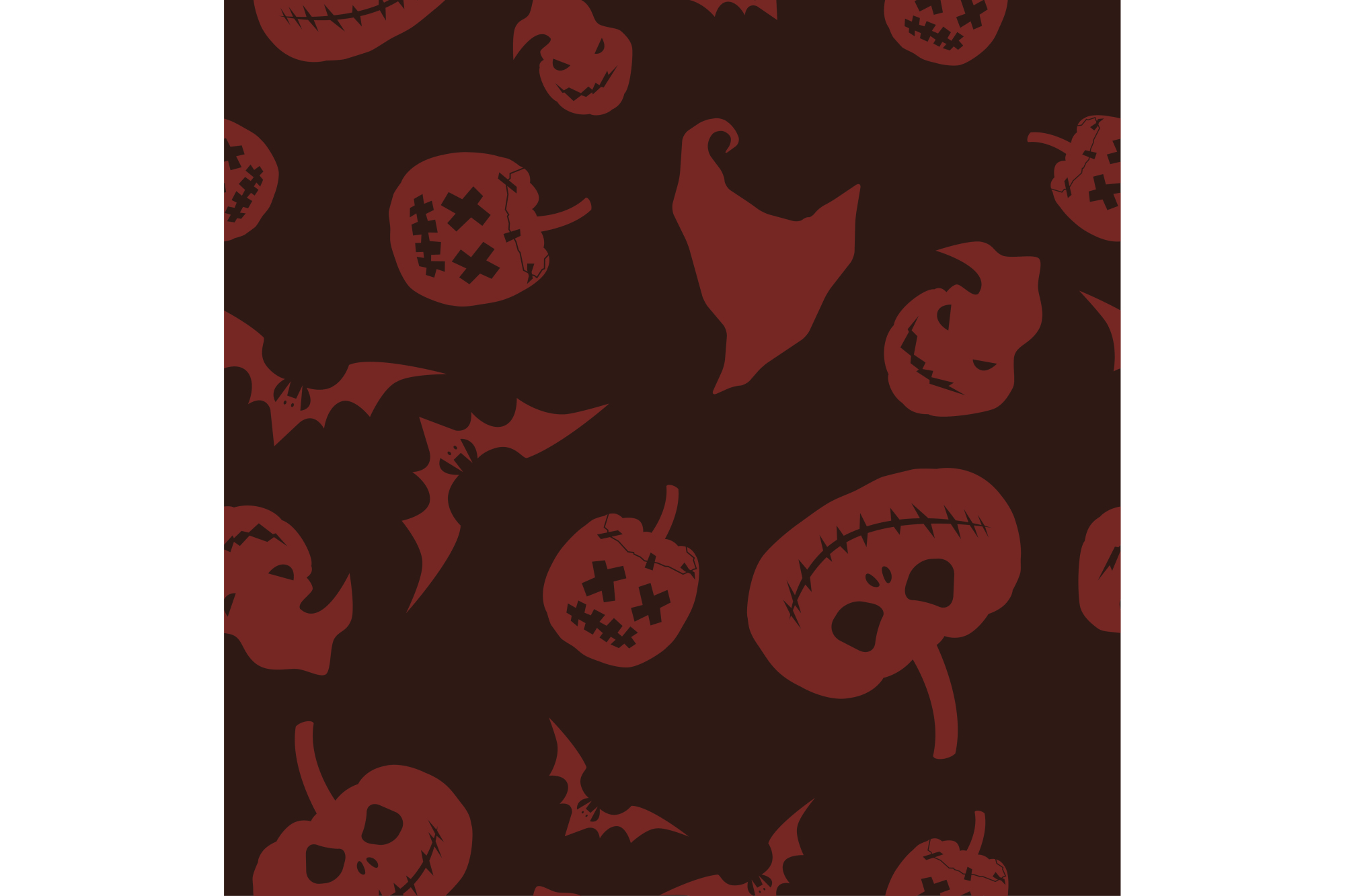 Seamless decorative vector background Happy Halloween. Print. Repeating background. Cloth design, wallpaper. example image 1