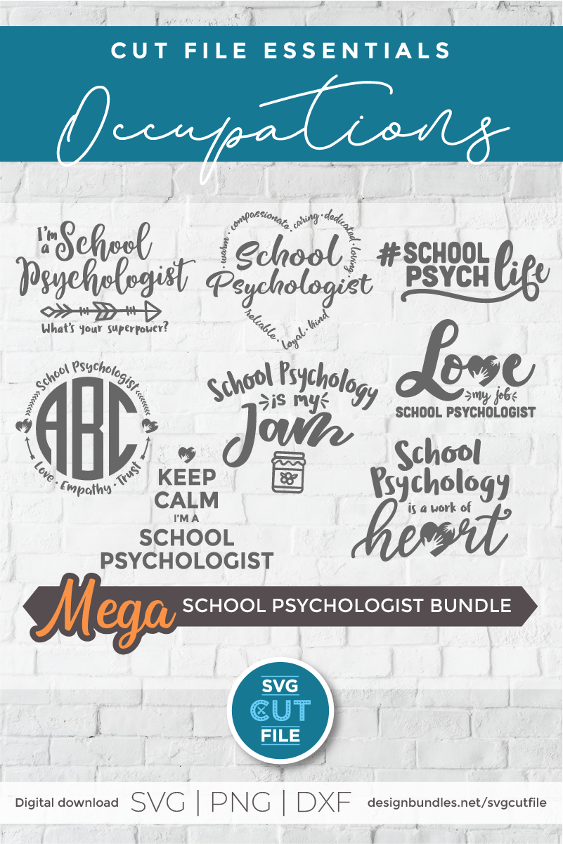 School Psychologist svg bundle, School Counselor svg bundle example image 2