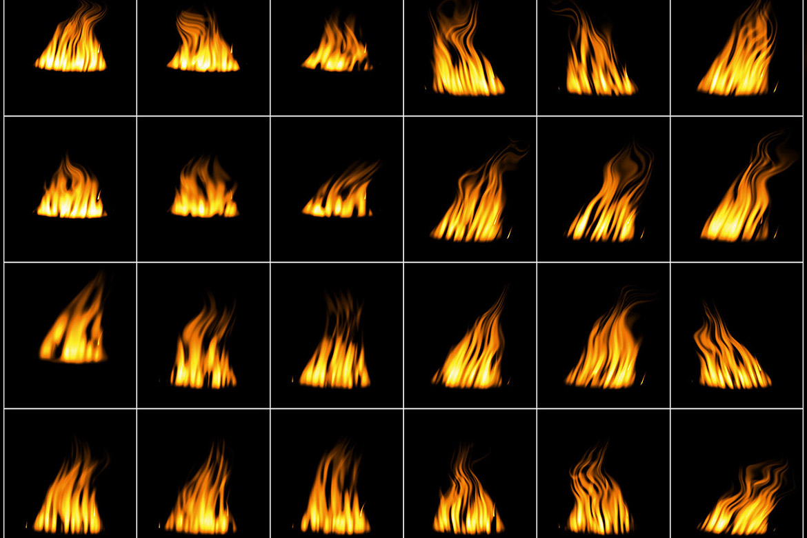 50 Digital Fire Overlays example image 4