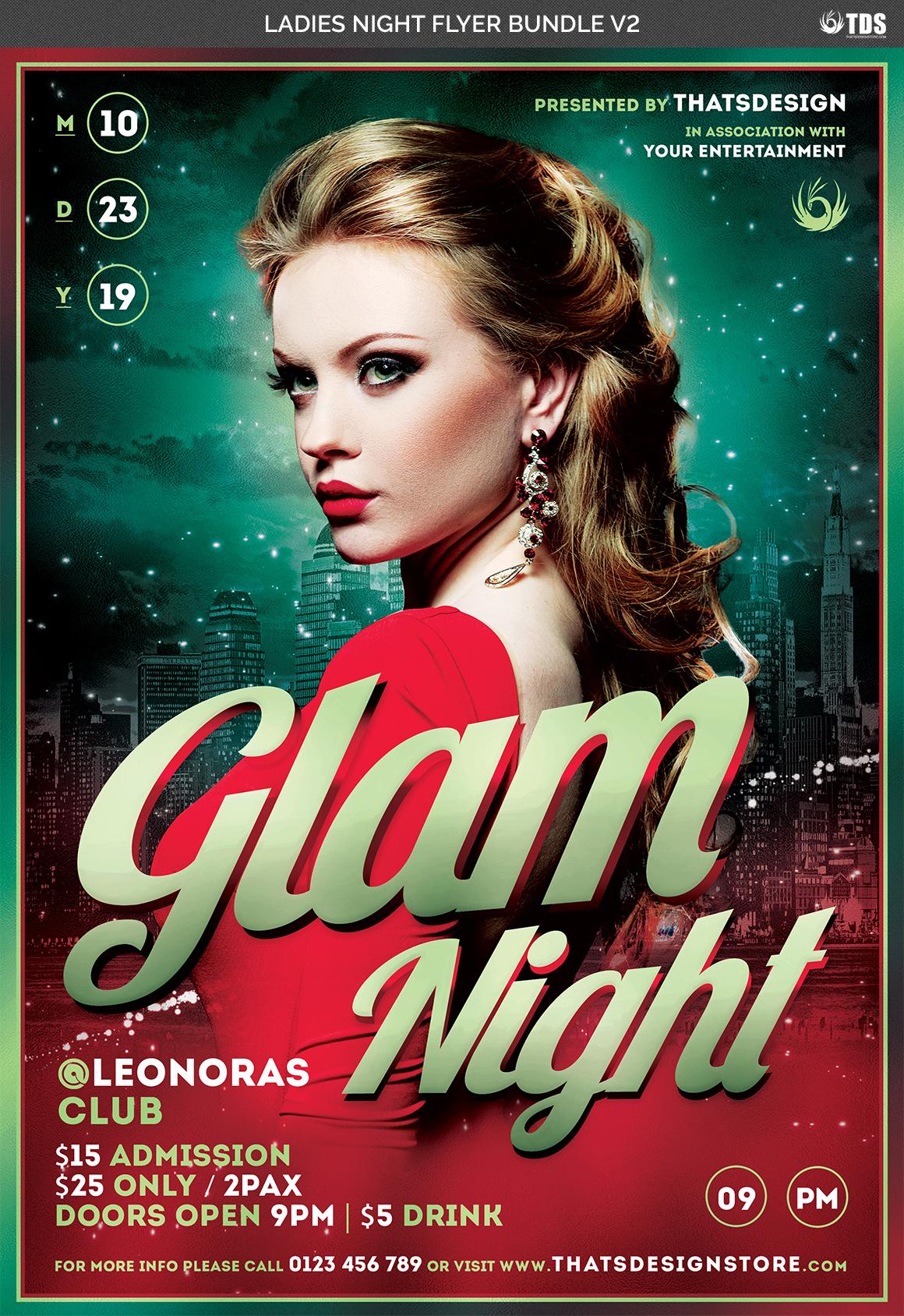 Ladies Night Flyer Bundle V2 example image 7