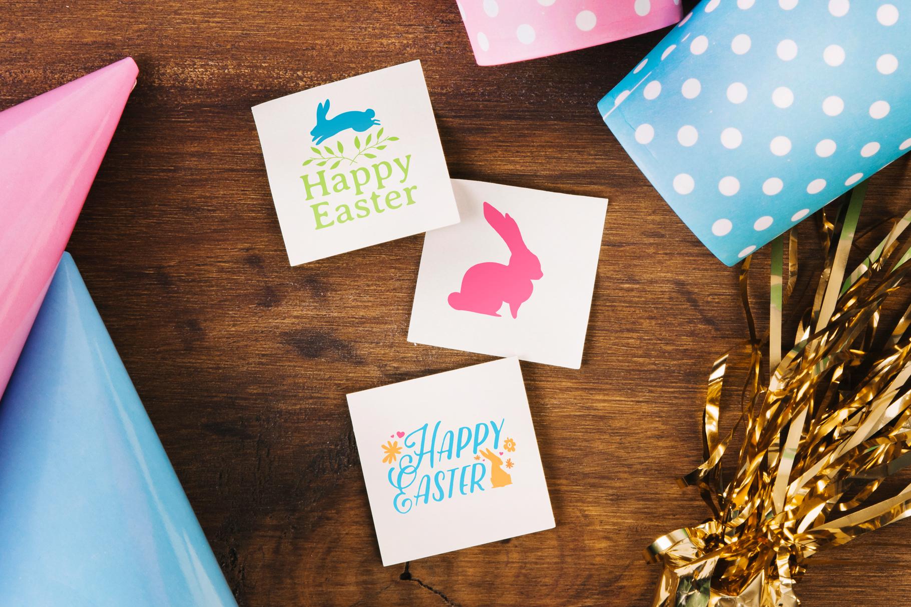 Happy Easter logo set example image 5