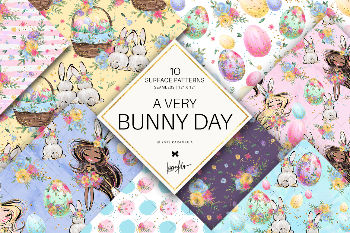 Easter Eggs Bunny Fairy Patterns example image 1