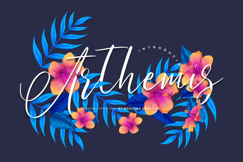 Arthemis Script - Logo Font example image 2