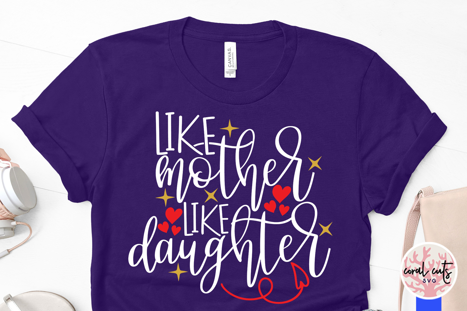 Like mother like daughter - Mother SVG EPS DXF PNG File example image 3