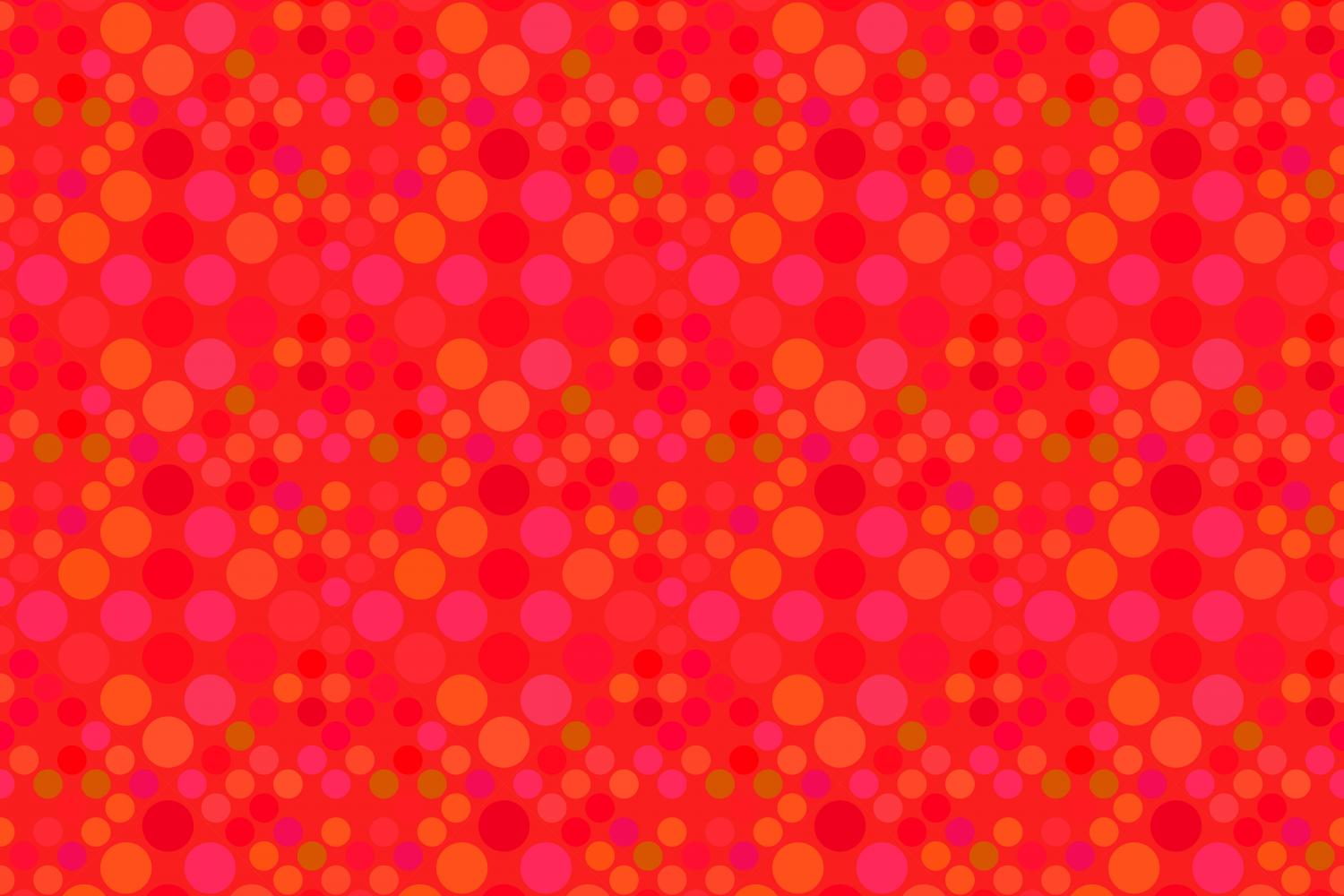 24 Seamless Red Dot Patterns example image 19