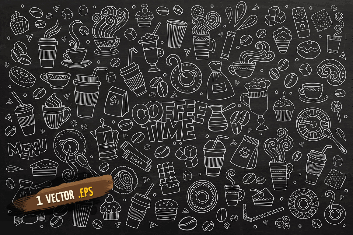 Coffee Objects & Elements Set example image 3