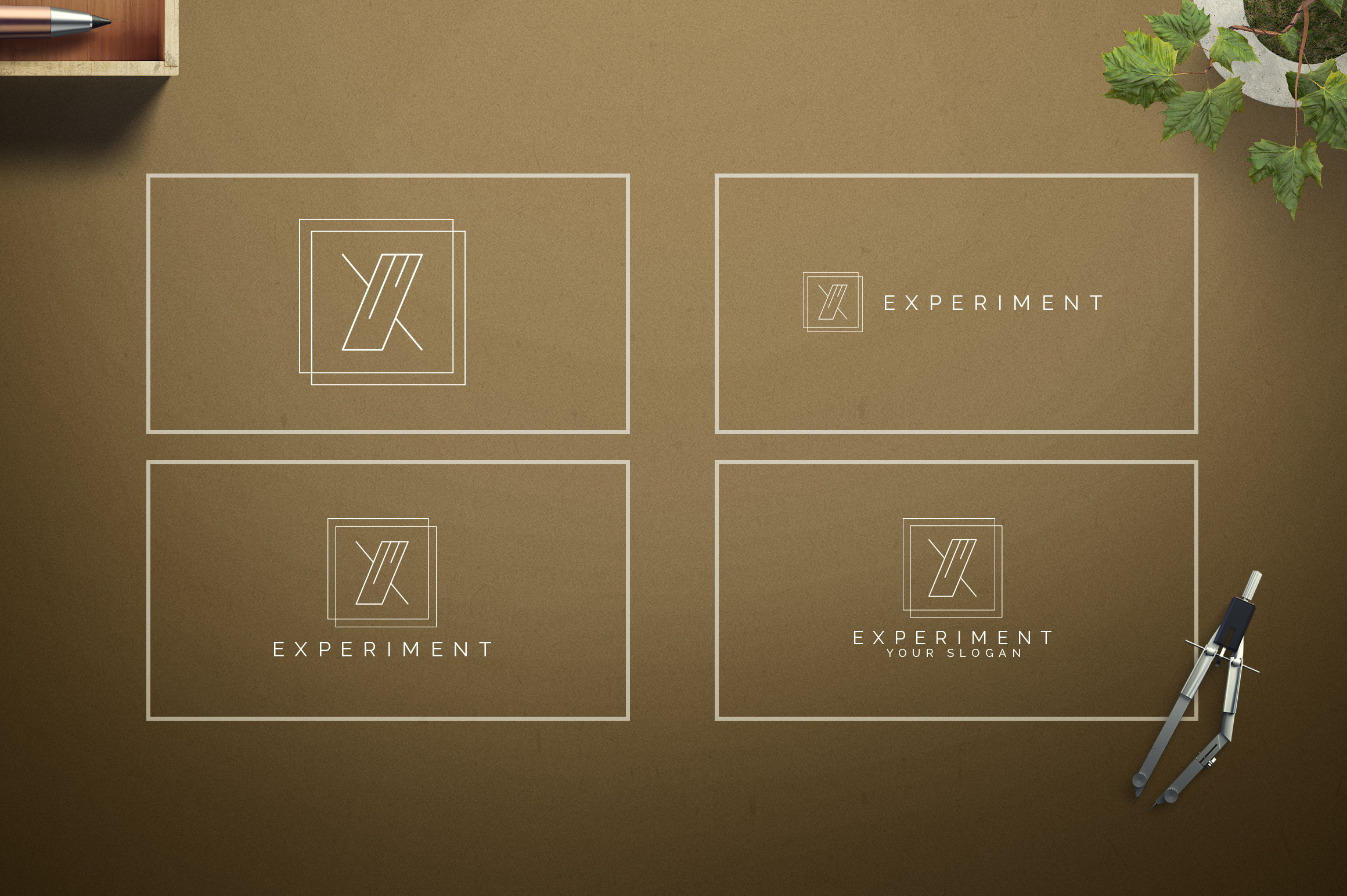 Geometric Letters and Logo Designs example image 25