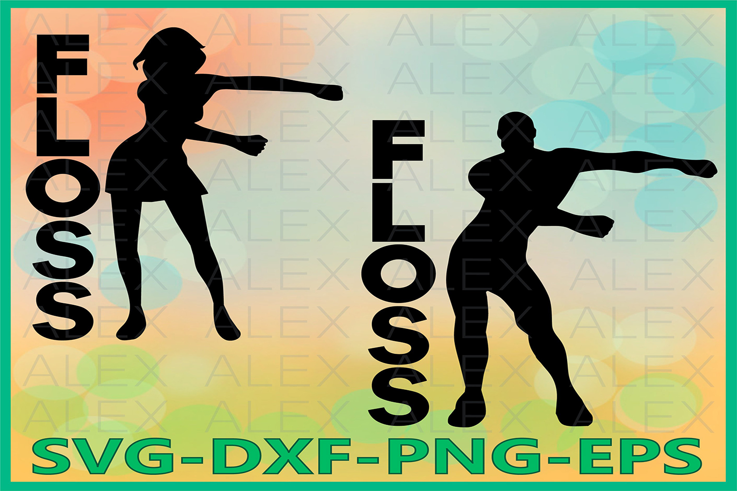 Floss SVG, Flossing Svg, Floss Dance Silhouette Files example image 1