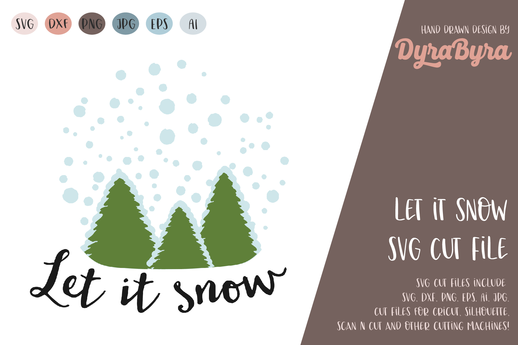 Let it snow SVG / Winter mood SVG / Christmas svg example image 2