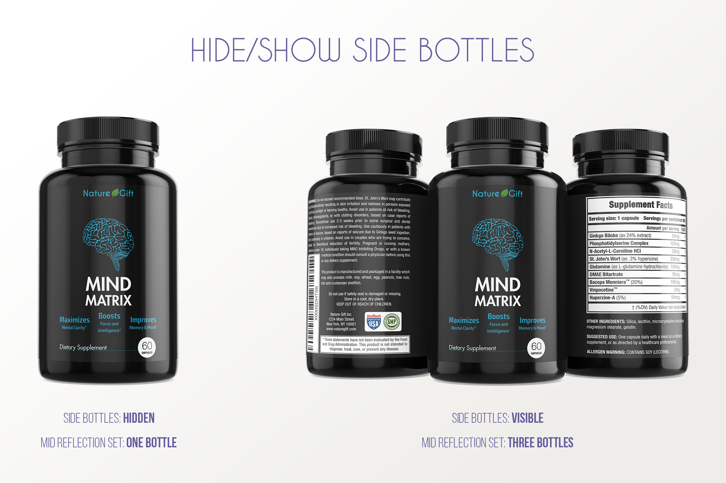 Dietary Supplement Mockup v. 1B example image 5