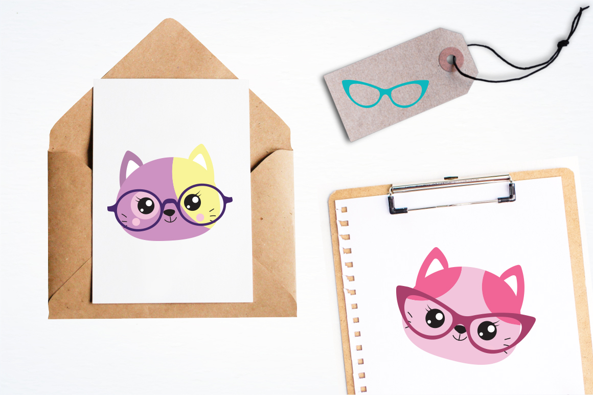 Hipster Cat graphic and illustrations example image 3
