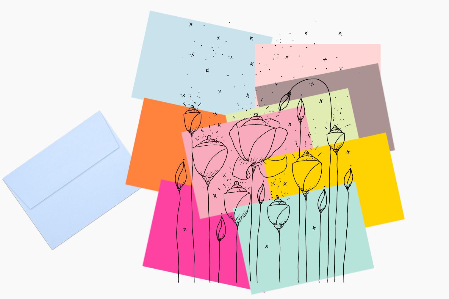 Light Flower Doodle Art, A1, SVG example image 6