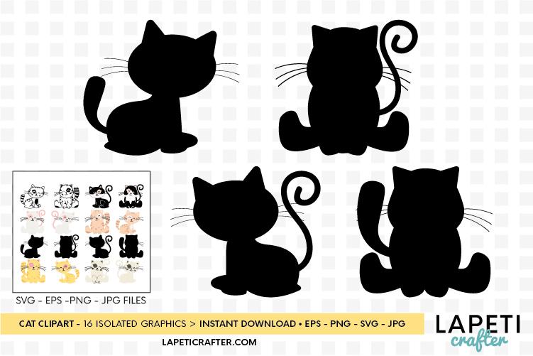 Cat clipart, kitten cats clipart, kitty clip art digital example image 9