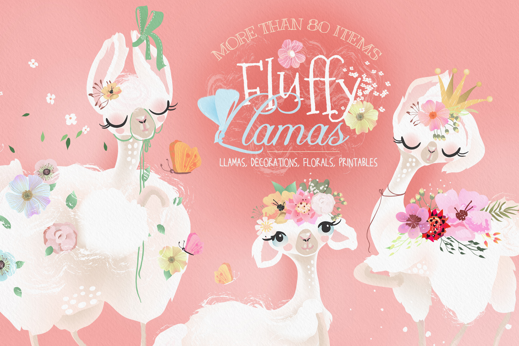 Fluffy Llamas Collection example image 1