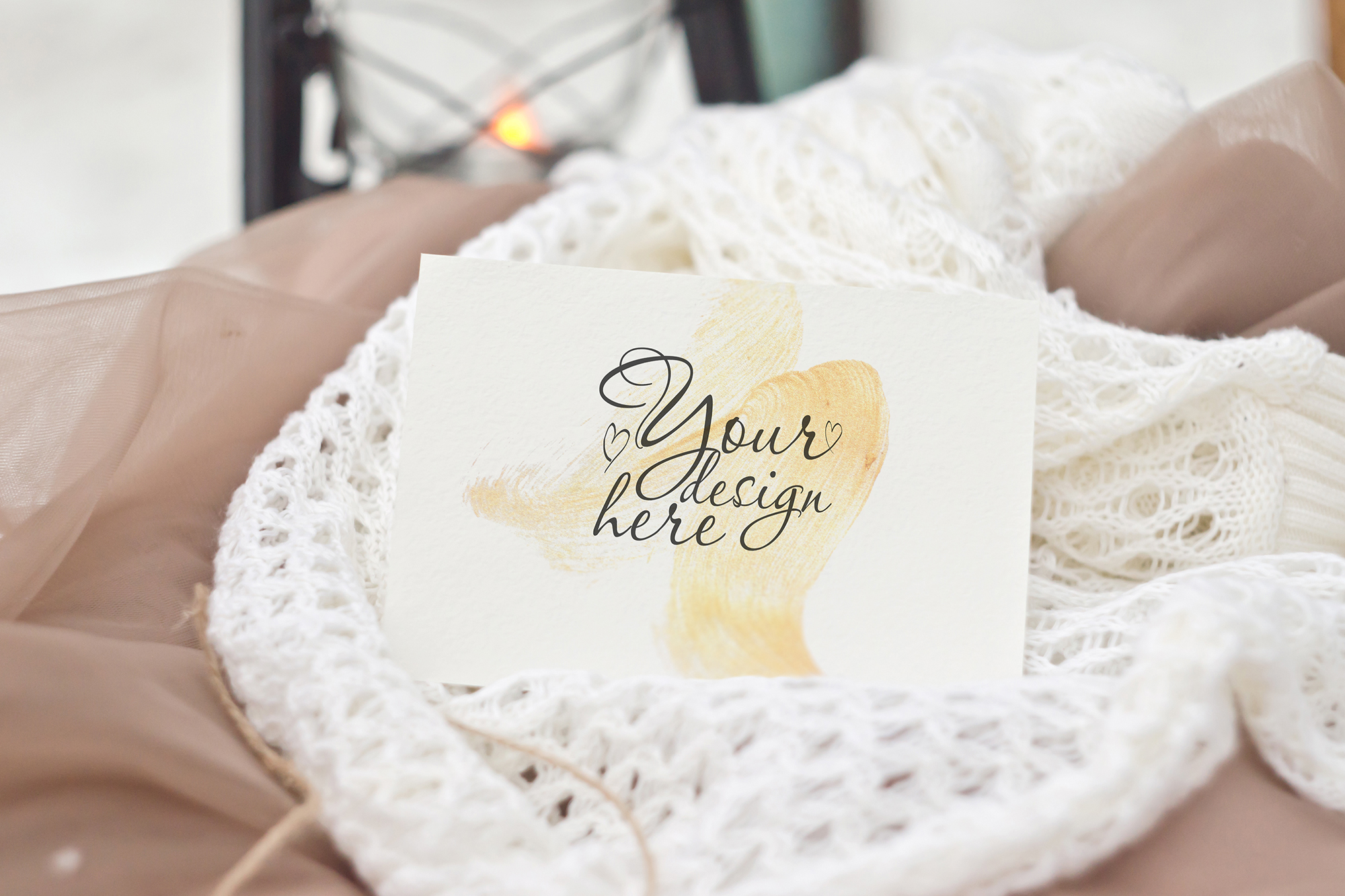 Cappuccino. Stationery Mockup Card example image 4