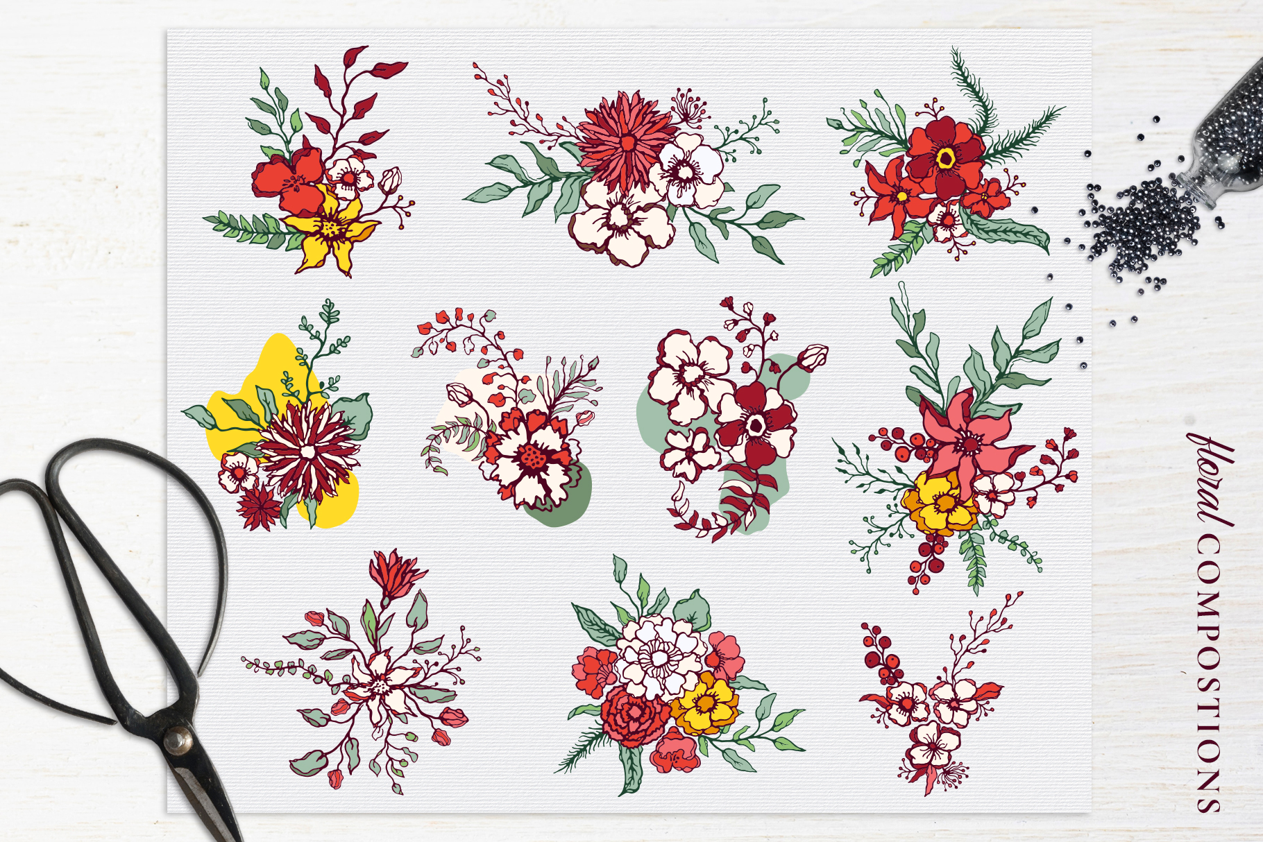 Winter Floral Patterns & Illustrations example image 8