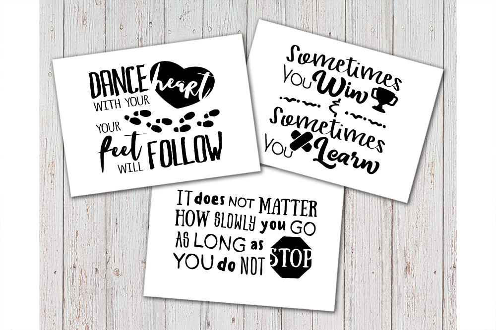 8 Hand Lettered motivation quotes bundle svg example image 4