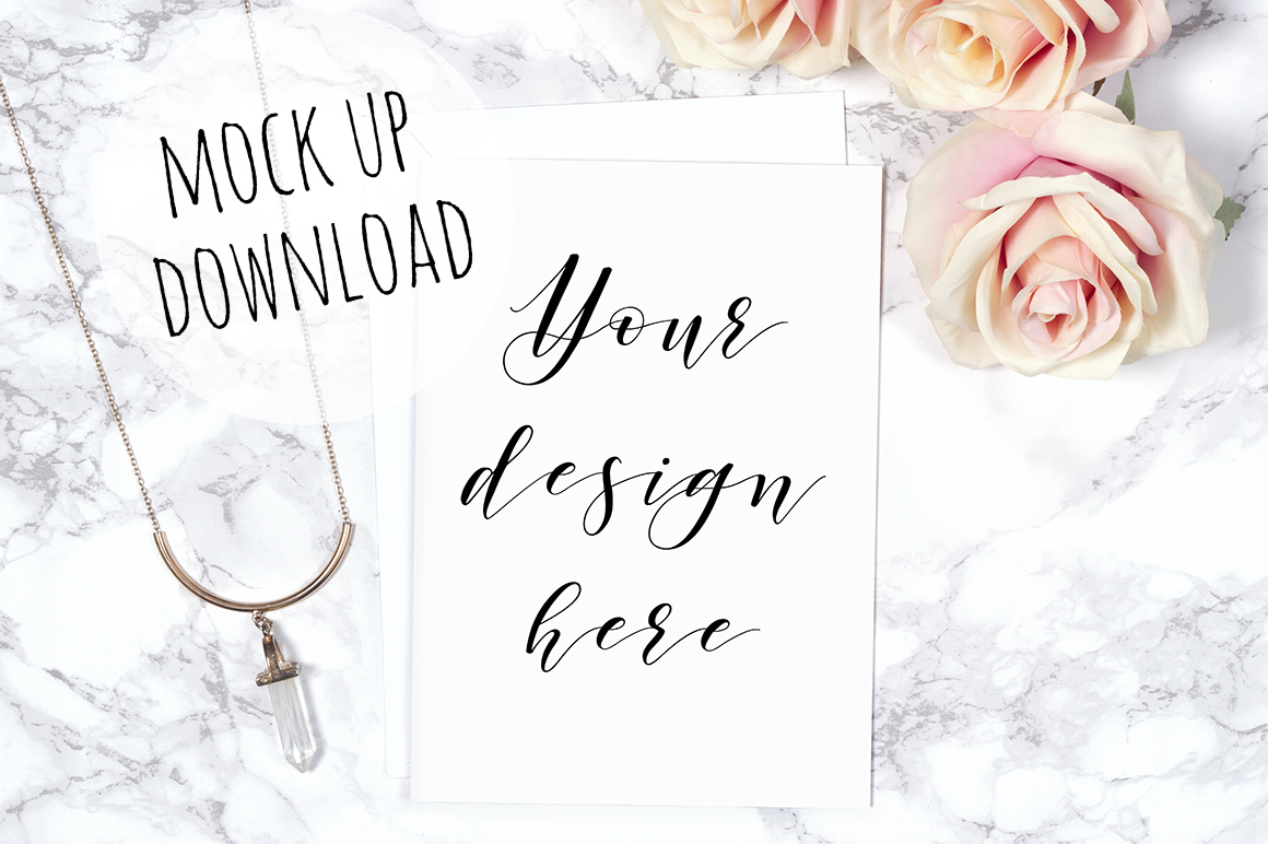 Pretty Card or Invite Mock Up Bundle example image 9