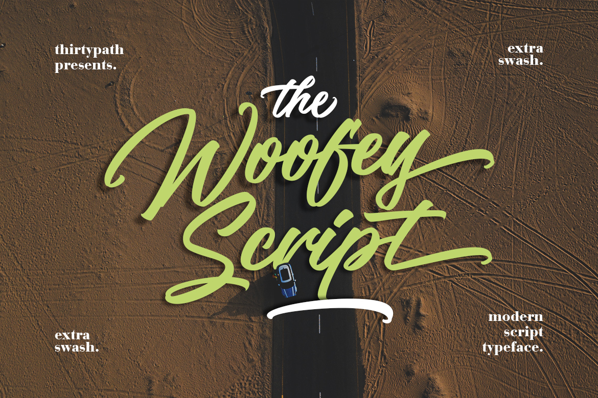 The Woofey Script Typeface example image 1