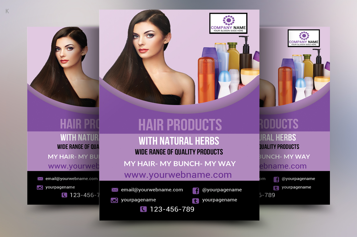 Hair Products Flyer example image 3