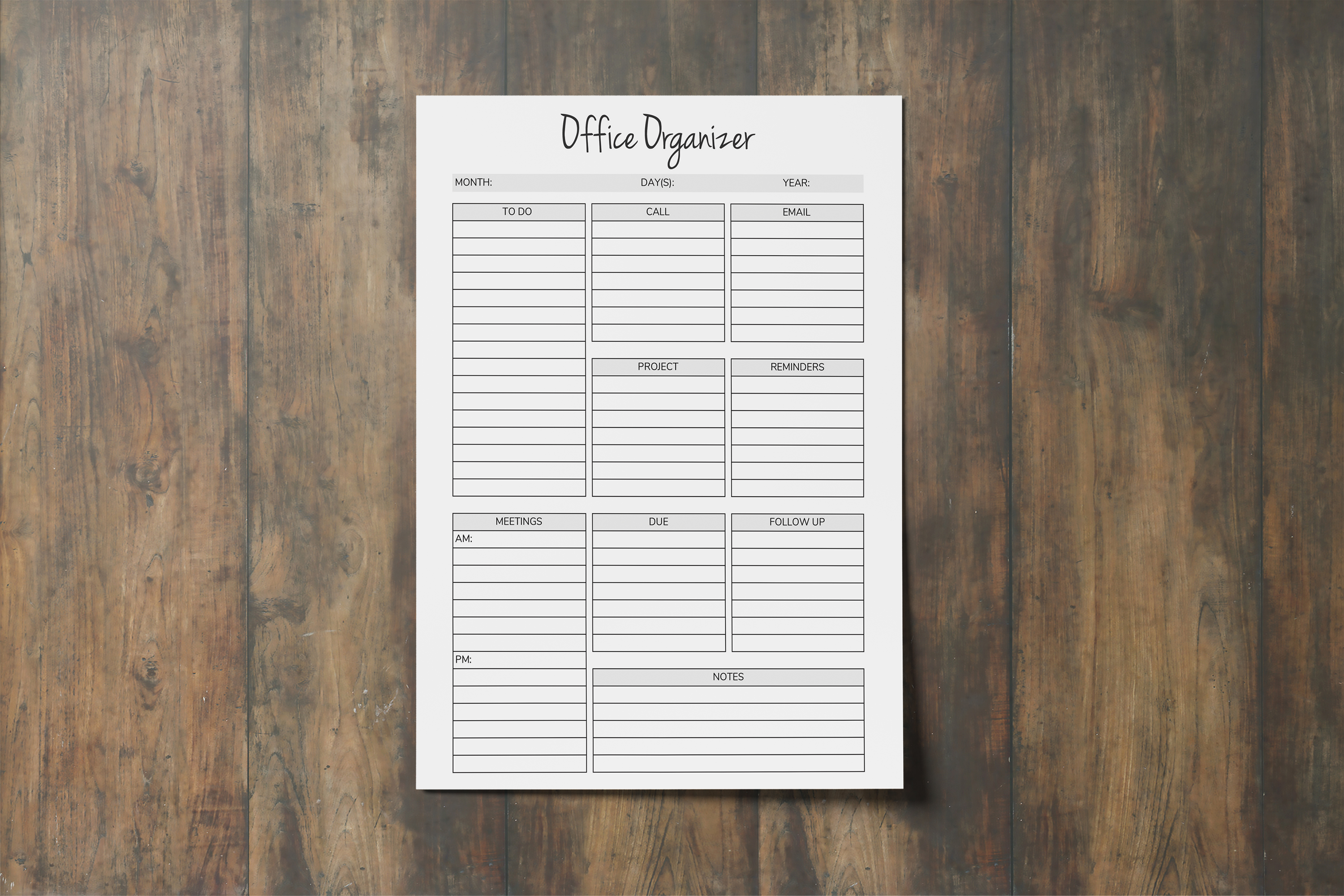 Office Organizer, Printable Planner Pages, Planner Organizer example image 2