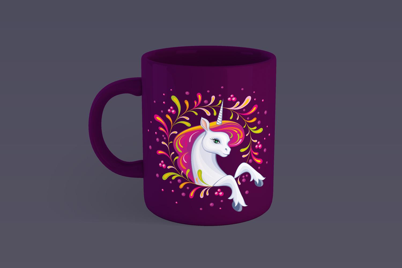 Little beautiful unicorn. Vector illustrations. example image 3