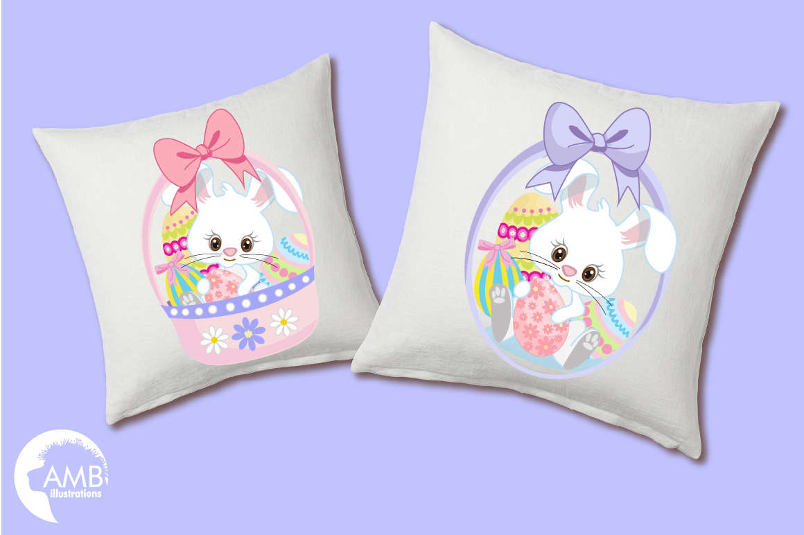 Easter Bunnies clipart, graphics, illustrations AMB-1182 example image 4