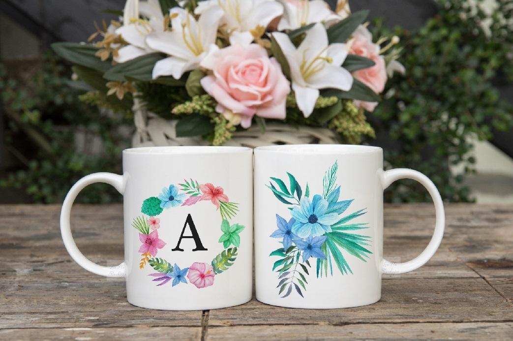 Two coffee mug mock ups double mockup mugs set of 2 cups example image 2