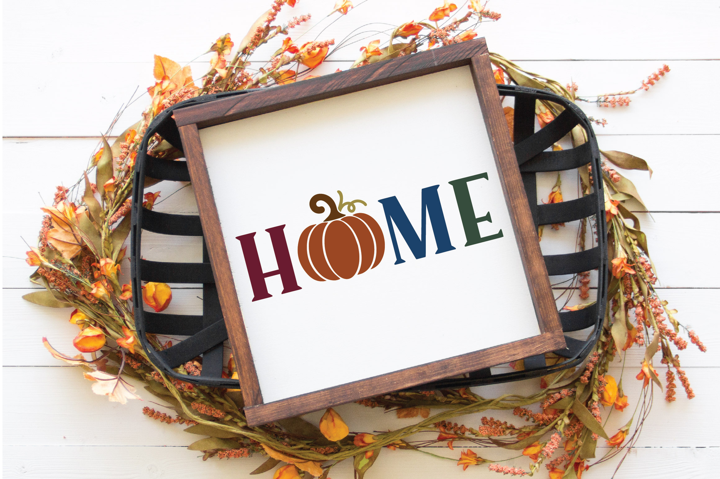 Home SVG Cut File - Fall Pumpkin SVG example image 5