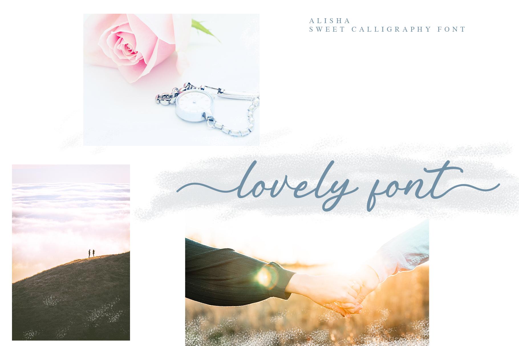 Alisha - Sweet Calligraphy Font example image 3