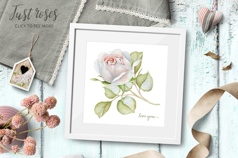 15%OFF. Watercolor Floral Collection example image 2