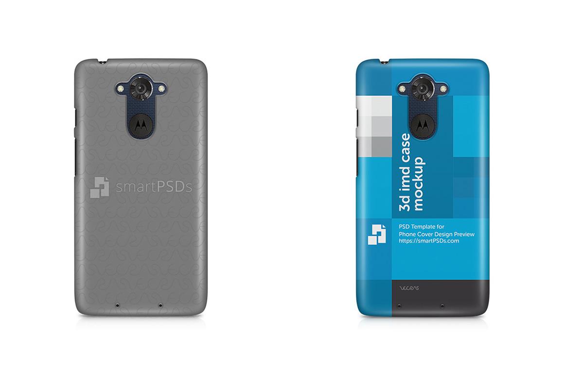 Motorola Moto Turbo 3d IMD Mobile Case Design Mockup 2015 example image 2