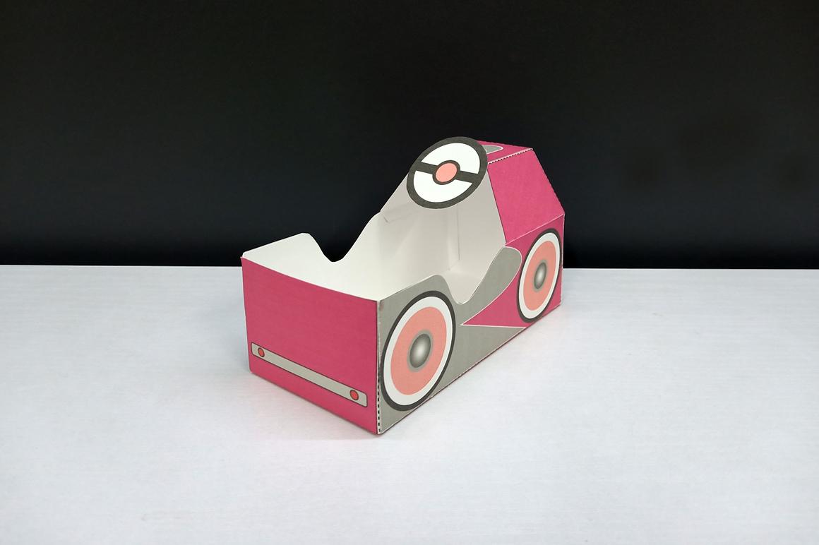 DIY Pedal car favor - 3d papercraft example image 4