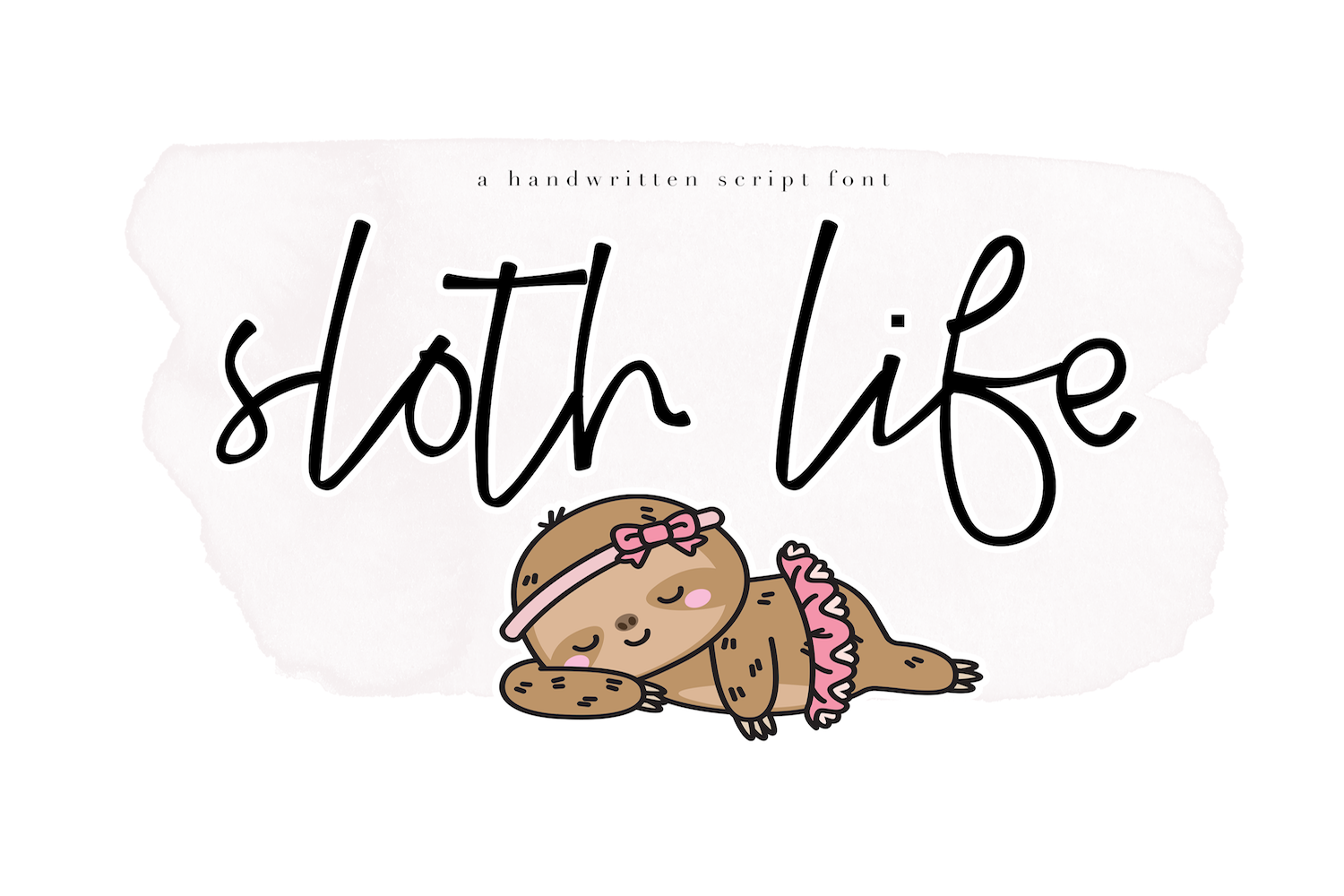 Sloth Life - Handwritten Script Font example image 1