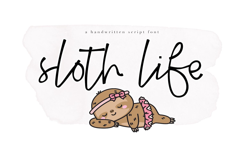 Sloth Life - Handwritten Script Font example image 1