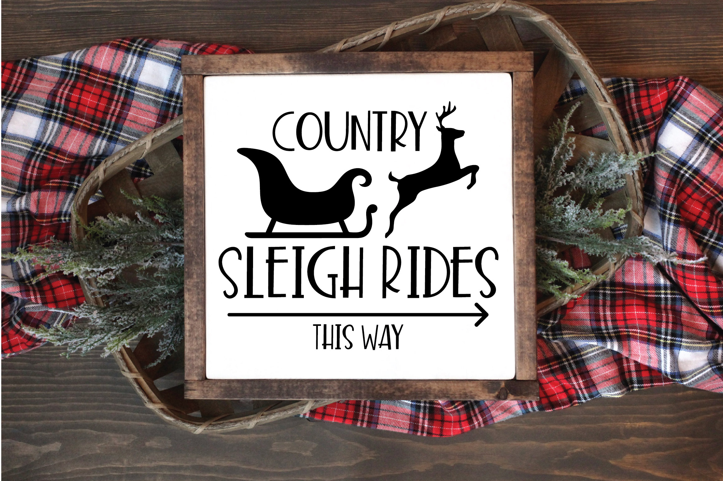 Christmas SVG Cut File - Sleigh Rides SVG DXF PNG EPS JPG example image 4