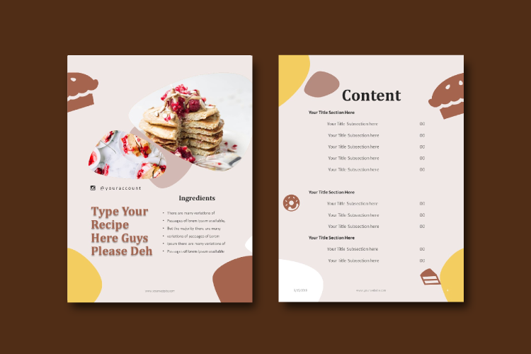 16 Pages Recipe eBook Template bakery powerpoint template example image 3
