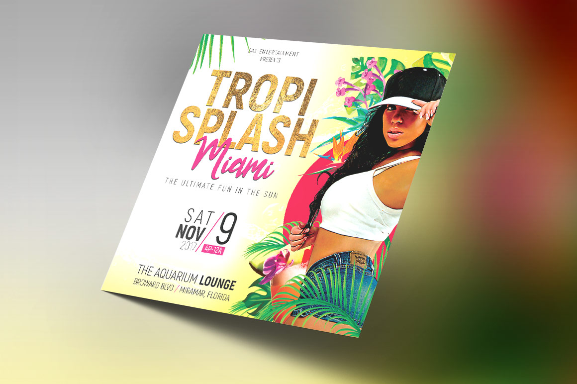Tropical Party Small Flyer Template example image 5