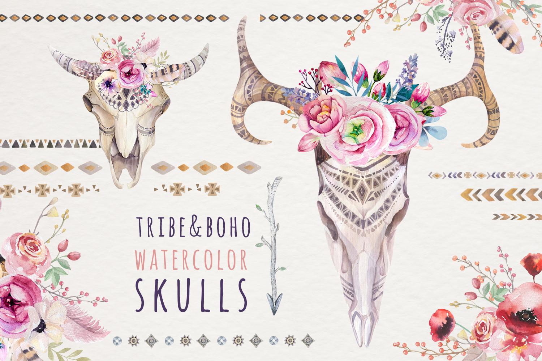 Tribe & Flower boho bundle example image 2