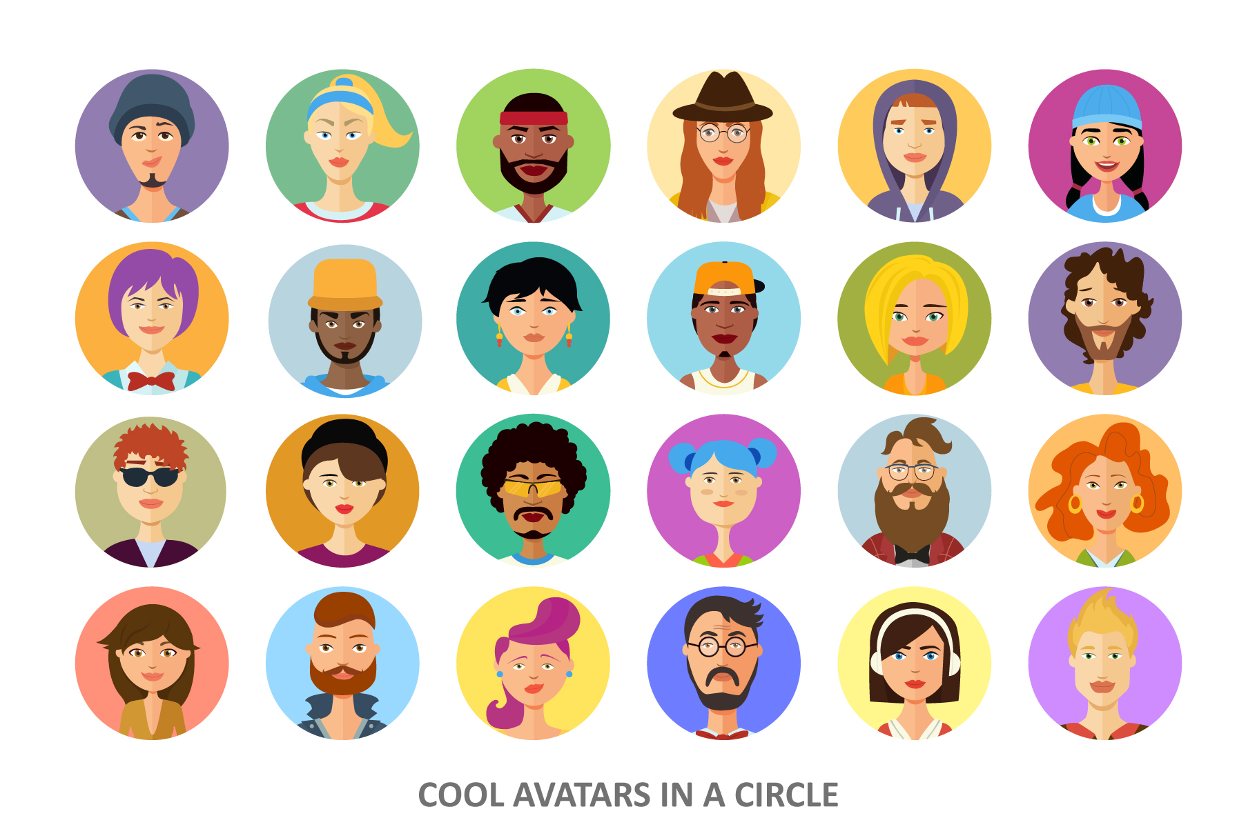 Avatars vector People Collection flat cartoon example image 2