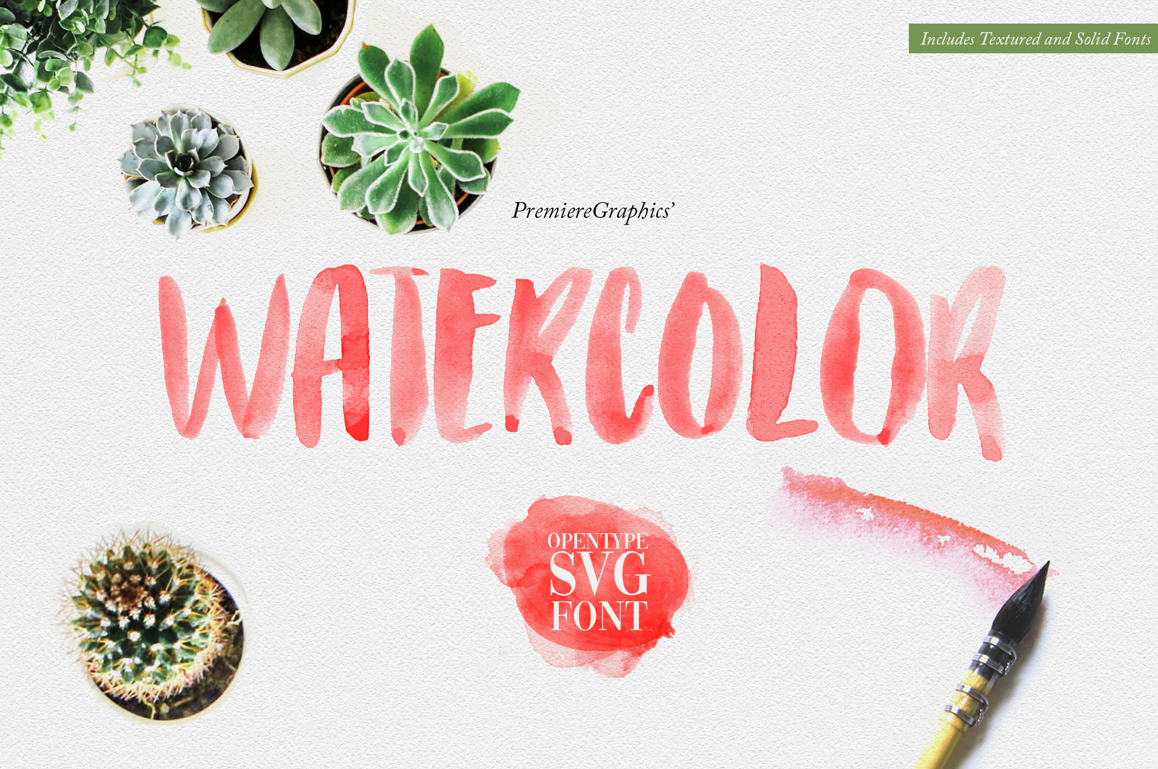 Watercolor Opentype-SVG Font example image 1