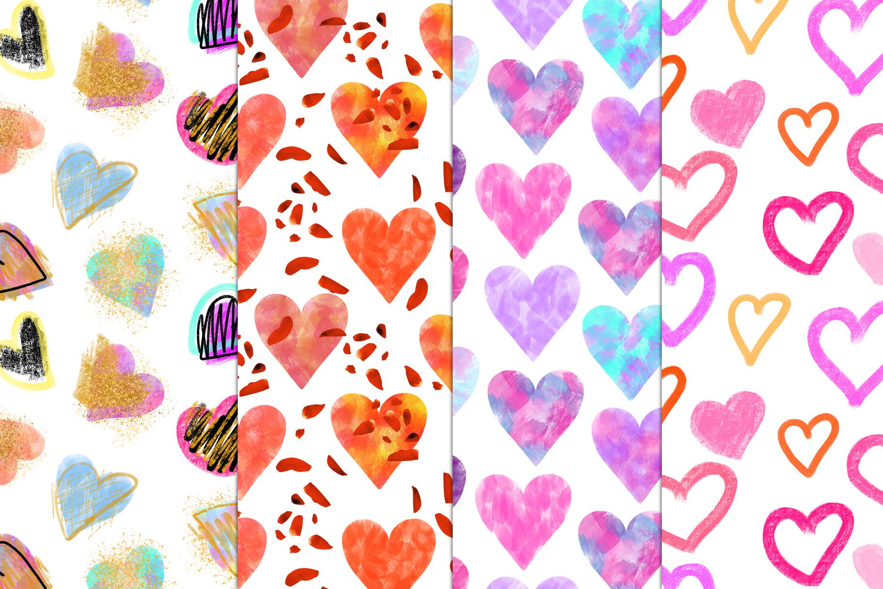 Stylish Hearts. 12 patterns example image 3