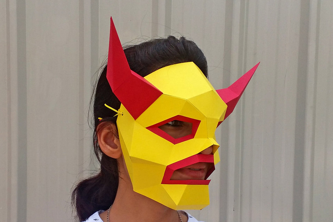 DIY Monster Mask - 3d papercraft example image 2