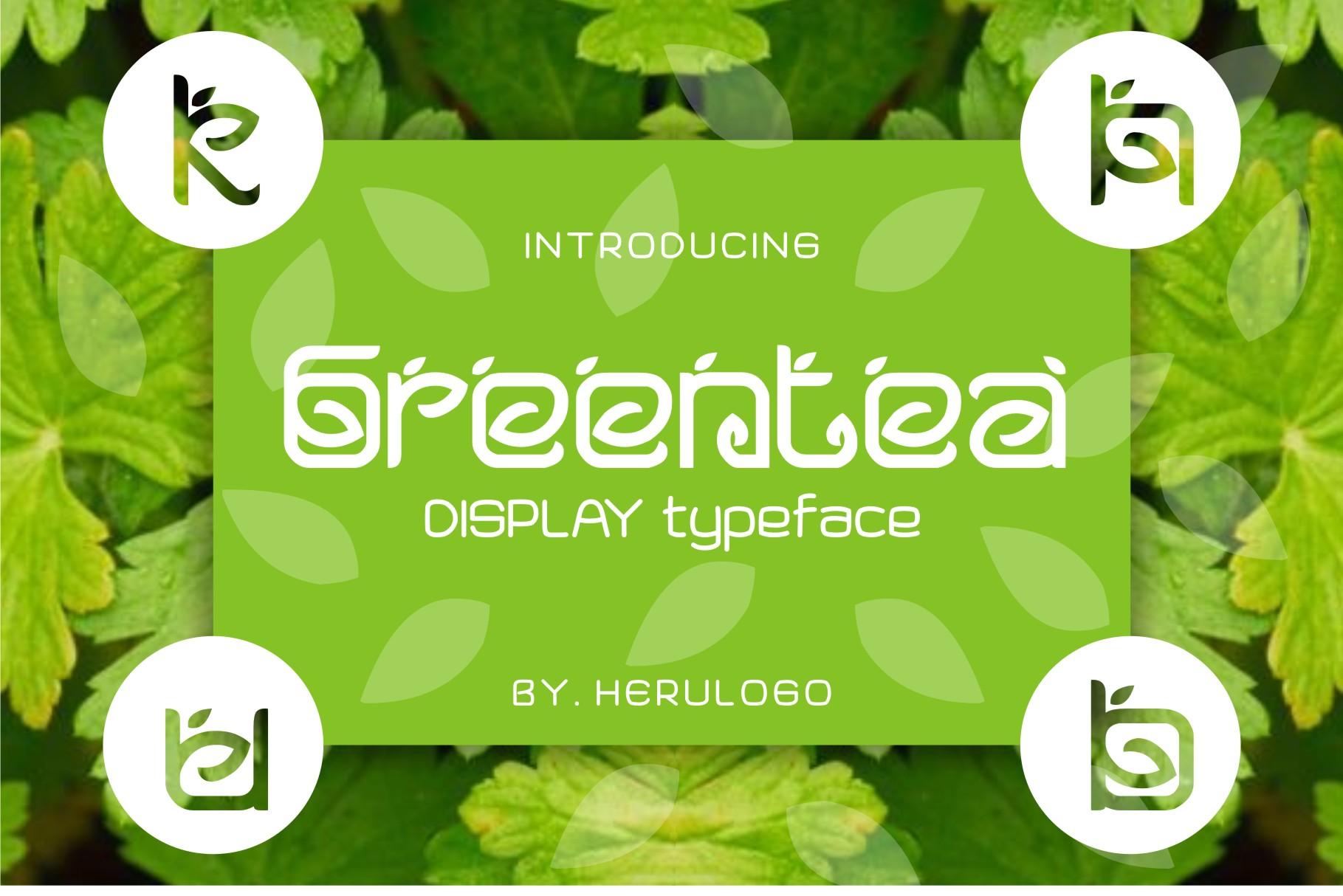 Greentea Logo Font example image 1
