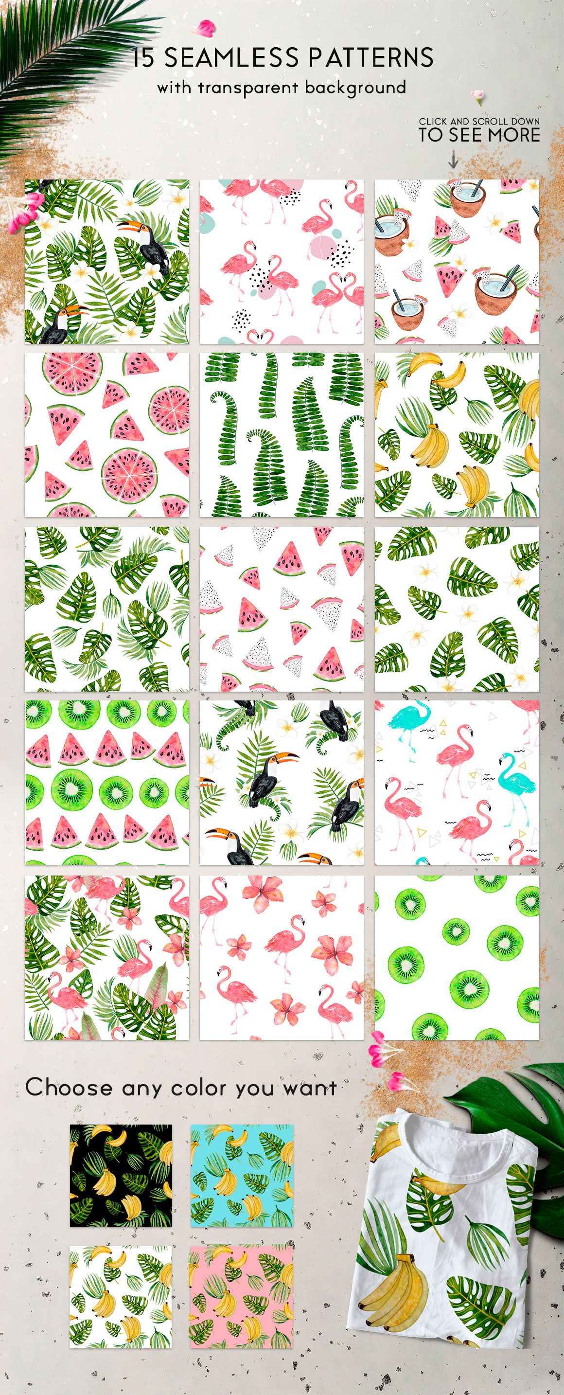 Tropical summer patterns example image 6